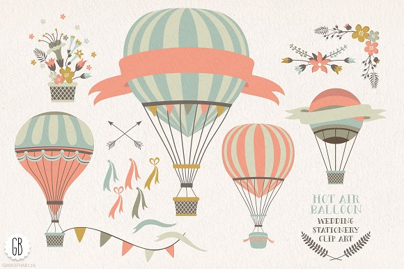 Hot Air Balloon clipart parachute #6