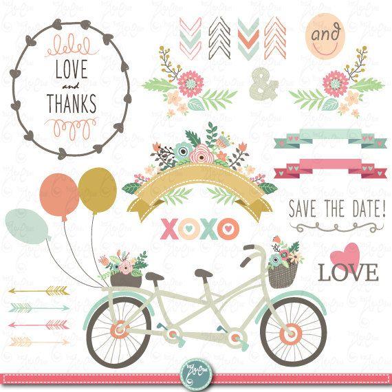 Illustration clipart wedding flower Best Download Wd021 Instant invitation