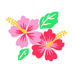 Pink clipart hibiscus flower Art for CoRe~DIY art clip