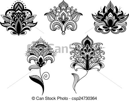 Persian clipart paisley Art Clip lace Black paisley