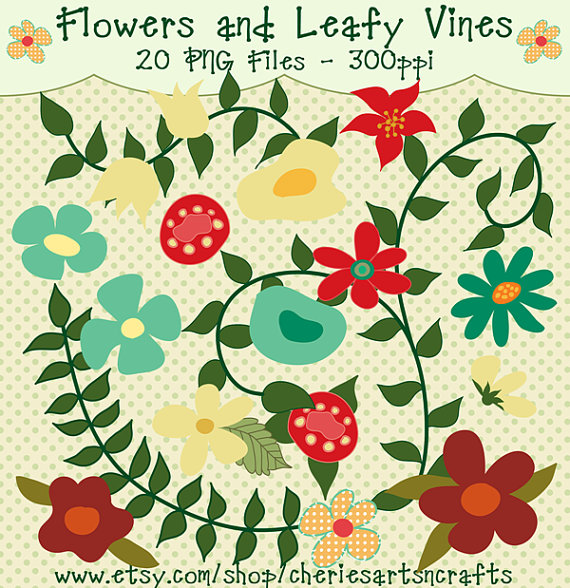Floral clipart leafy vine And Floral  from and