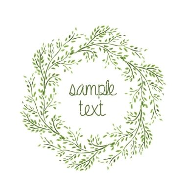 Wreath clipart sage By Jallom leaf vector frame
