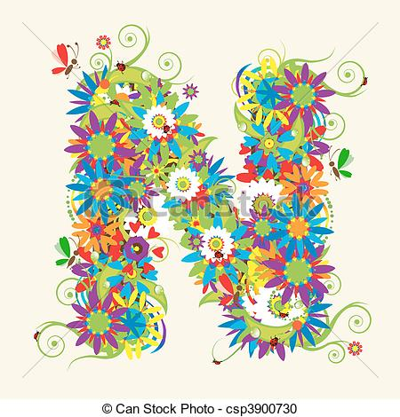 Letter clipart graphic Letters my floral Clipart in