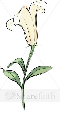 Floral clipart lily Flower Lily of for Clip