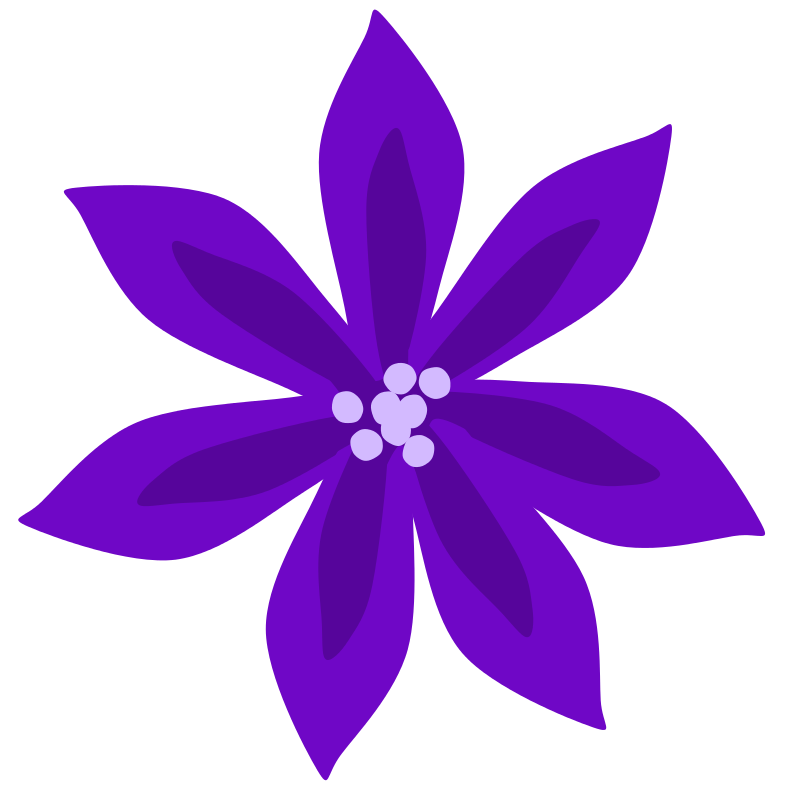 Floral clipart lily Clipart Free #26857 purple lily