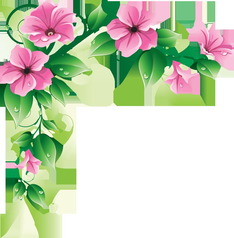Floral clipart line art Border on  Clip Download