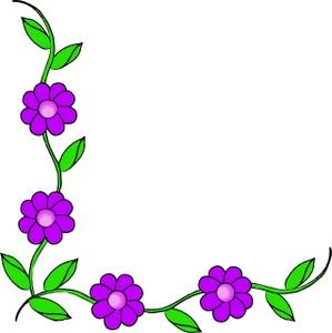 Floral clipart line art Png flowers Corner download doodle