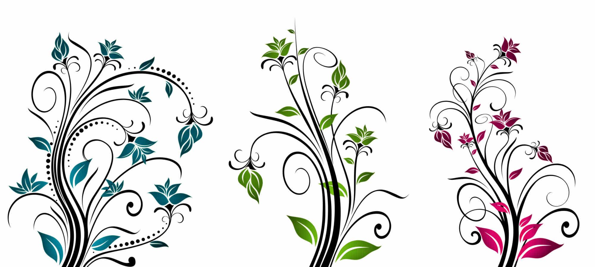 Floral clipart line art Graphics  Clip Download Flower