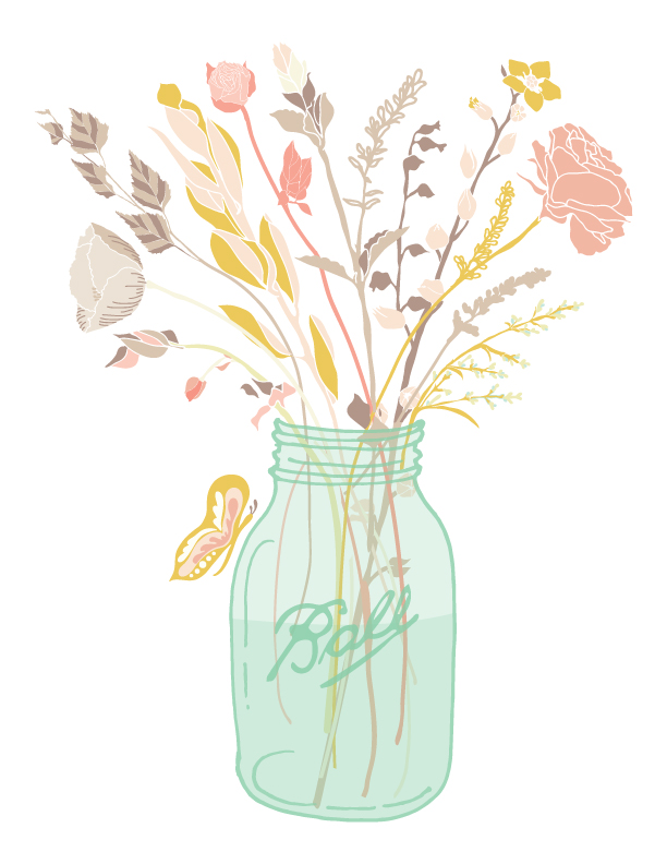 Jar clipart free mason A In Flowers With Jar