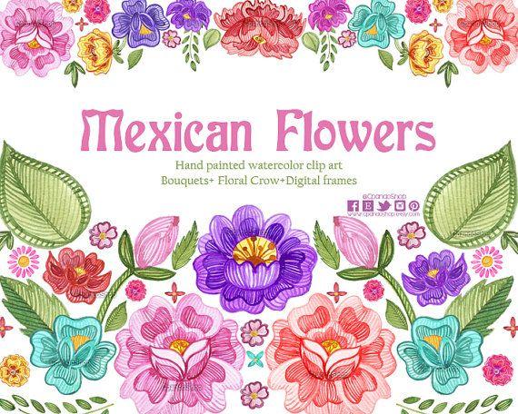 Animal clipart mexican Clipart florals besten Fiesta Pinterest