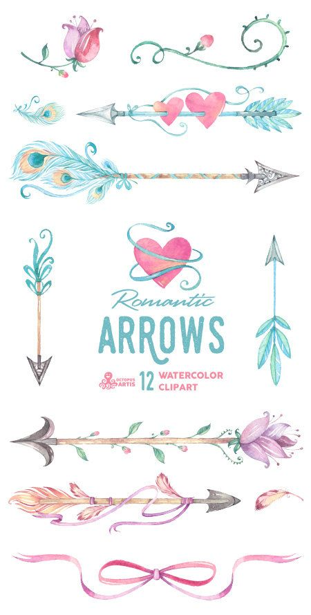 Arrow clipart boho #3