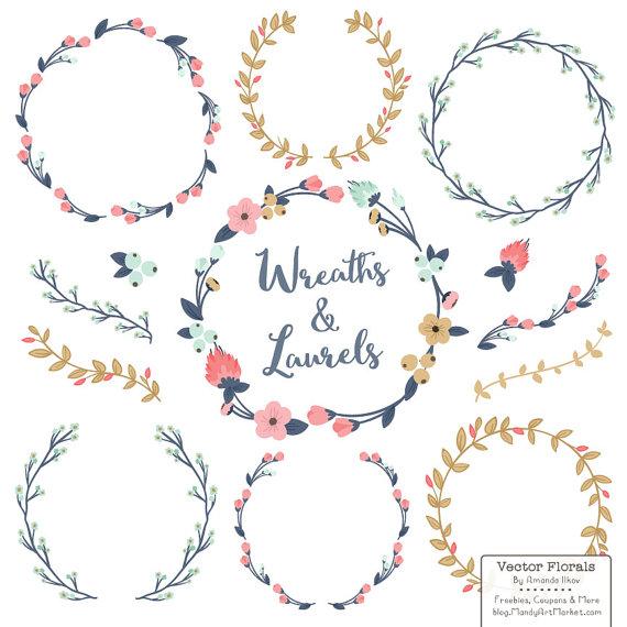 Wreath clipart modern Modern Floral in Modern Premium