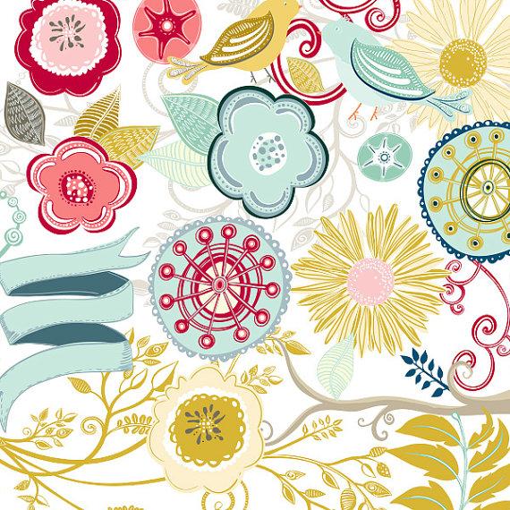 Pattern clipart picnic table Art Flower Retro Art Modern