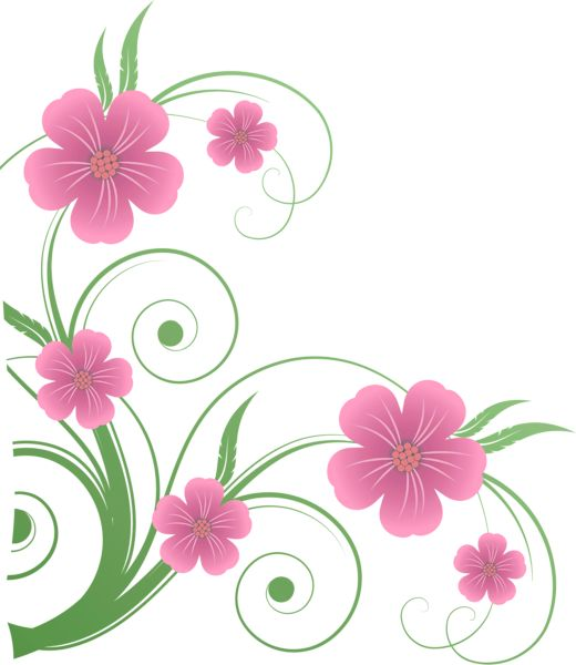 Floral clipart nature Decorative Flowers Element nature Scrapbook