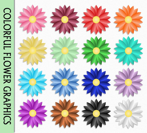 Floral clipart nature Scrapbook Clip Colorful Art Purple
