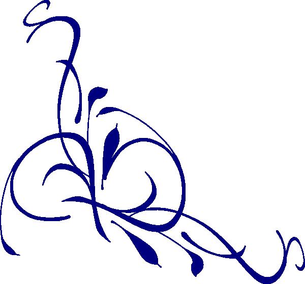 Floral clipart navy blue  clip Clip online art
