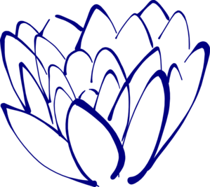 Floral clipart navy blue Online vector Lotus art clip
