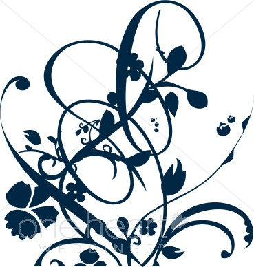 Dark Blue clipart swirl Clipart Clipart and Clipart Floral