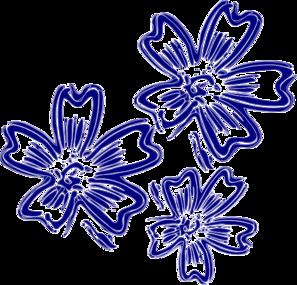 Blue Rose clipart ribbon Online vector art Flowers Navy