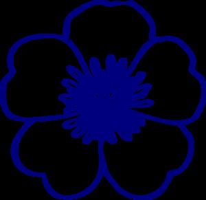 Floral clipart navy blue Public art royalty Buttercup Clker