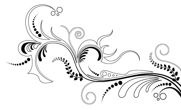 Floral clipart ornamental Free Vector on Download Art