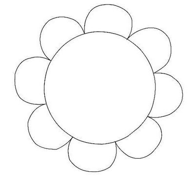 Elower clipart cut out Clipart outline clipart flower outline