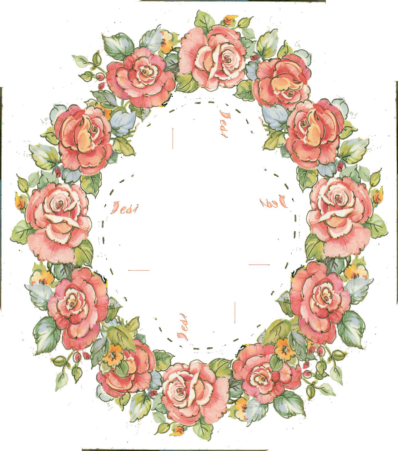 Floral clipart oval Frame; FramesFloral Frame  digital