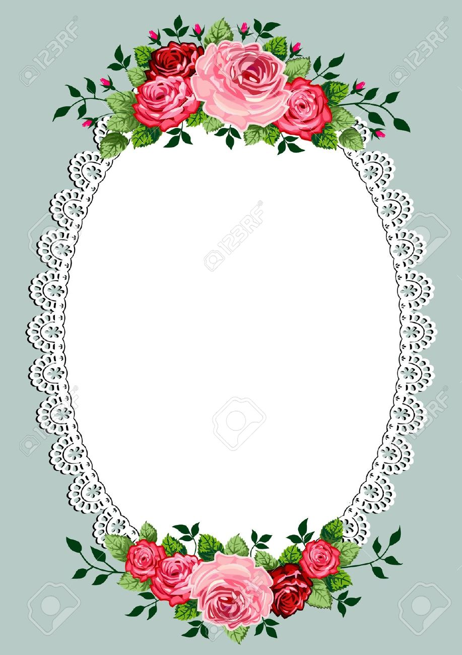 Floral clipart oval Stock Oval And Free