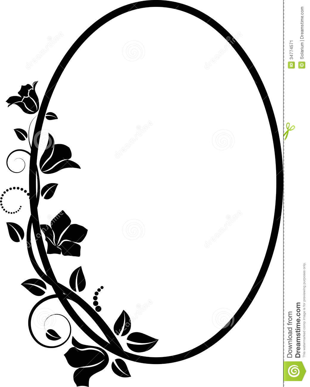 Floral clipart oval Border Images oval%20frame%20clipart Clipart Horizontal