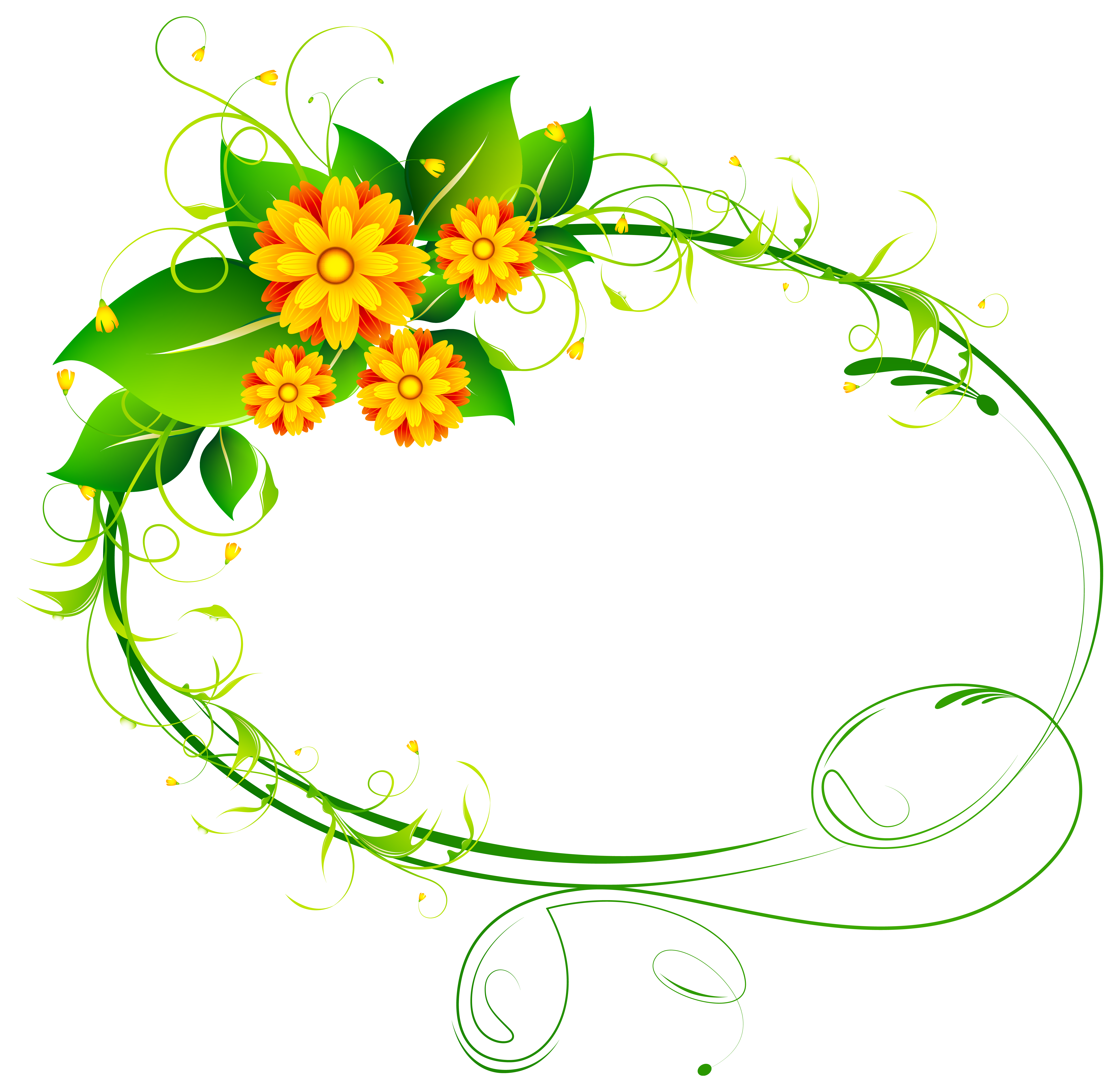 Floral clipart oval Floral Image View Art full