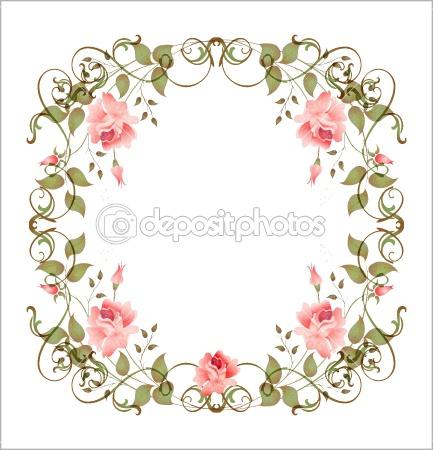 Floral clipart oval Art reshetnyova floral stock oxana
