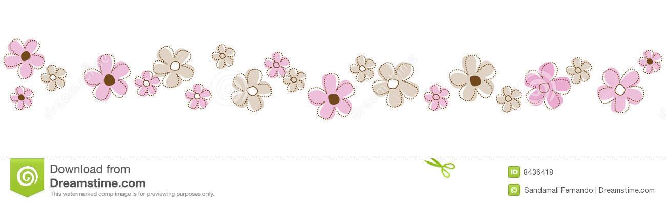 Line clipart floral Flowers clipart border line Clipart
