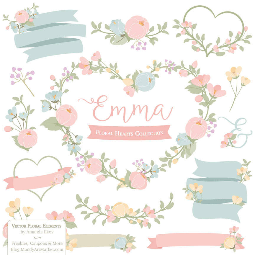 Pink Flower clipart pastel flower File This Clipart pastel Vectors