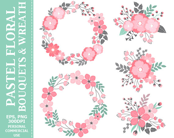 Wreath clipart digital BUY Wreath & Wreath Digital