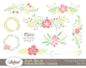 Pink Flower clipart pastel flower Wedding  Color Fresh Instant