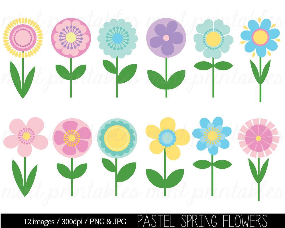 Tulip clipart pastel #3