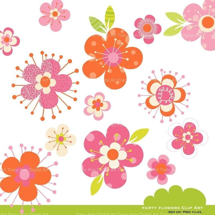 Floral clipart pink flower Flower Directory 457 on Image