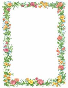 Floral clipart pretty flower Border And illustration Clipart Clip