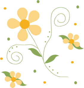 Floral clipart pretty flower Flower Pattern Yellow Images Flower