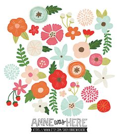 Floral clipart pretty flower Flowers Art Flower Art Clip