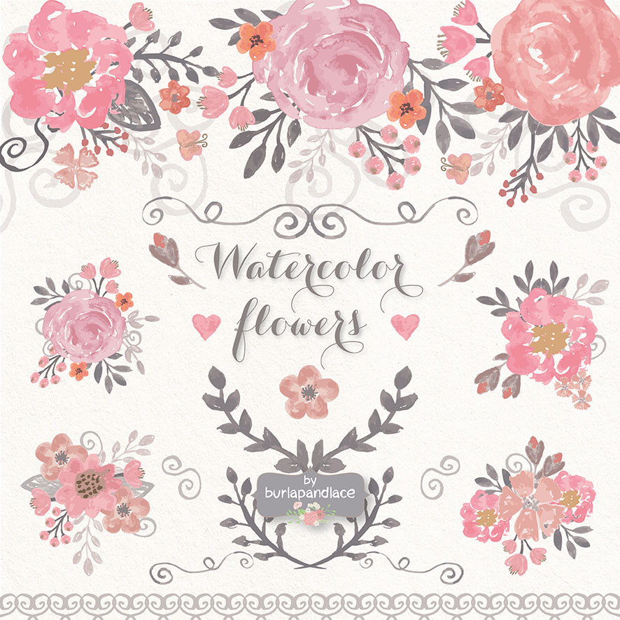 Peony clipart wedding invitation #13