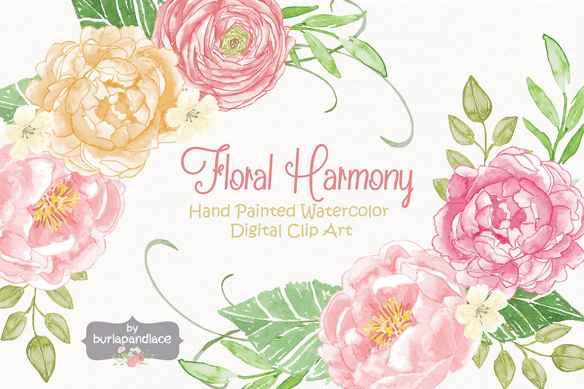Peony clipart wedding invitation #12