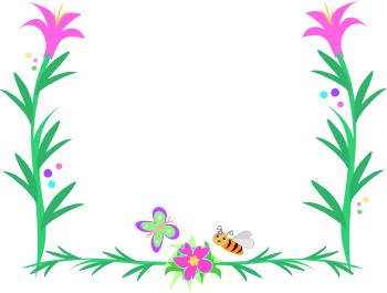 Floral clipart rose border Clip clip border and flower