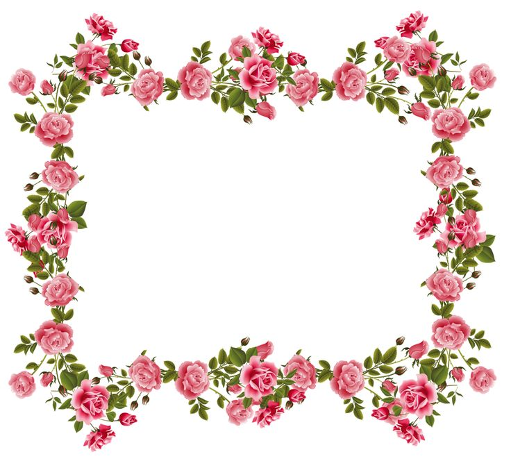 Floral clipart rose border On Free  frames by