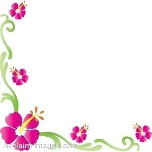 Floral clipart rose border About Flower art flowers a