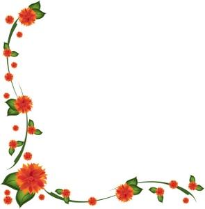 Floral clipart rose border  Clipart clip flower border