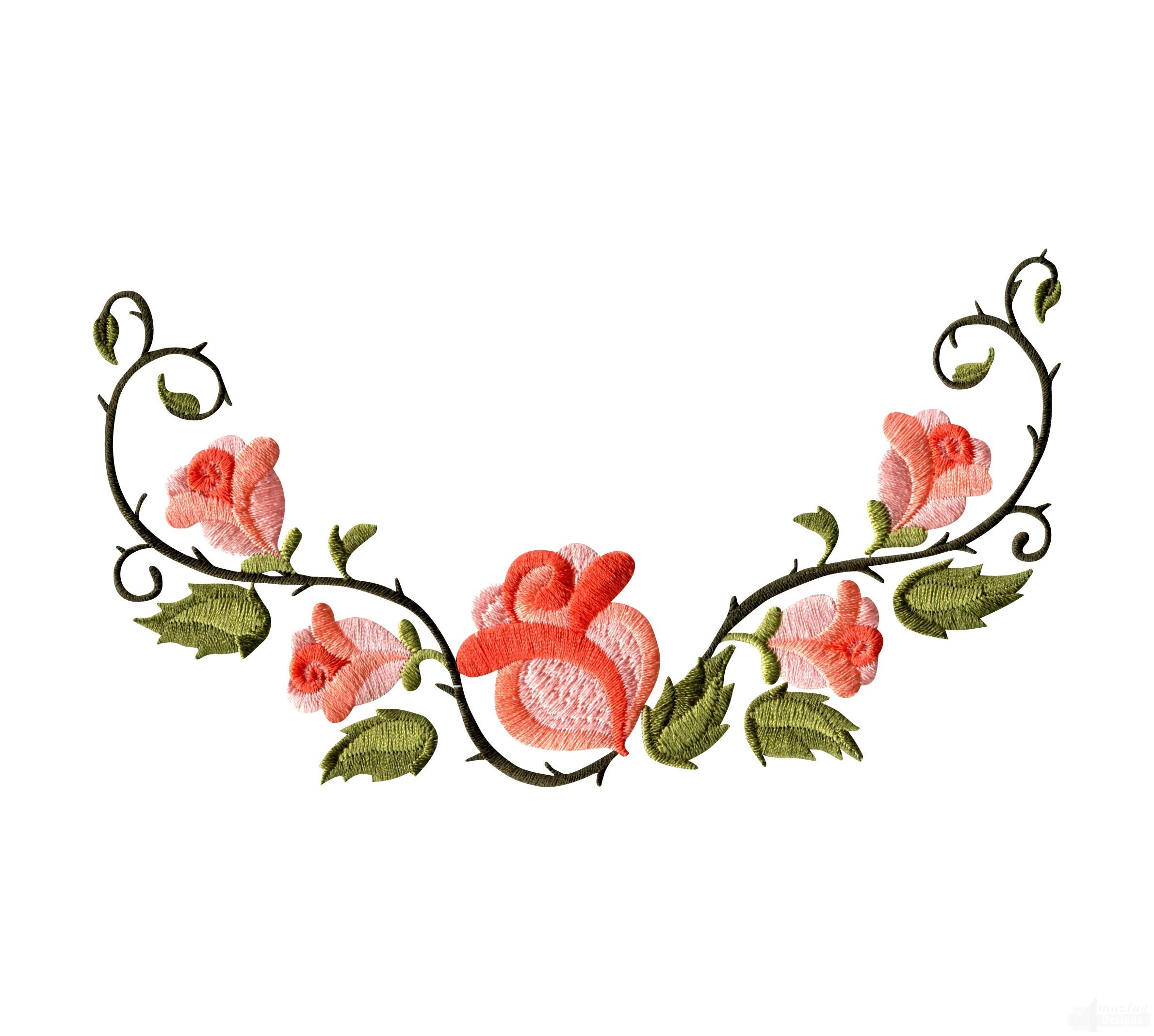 Floral clipart rose border  Clip Rose Flower Free