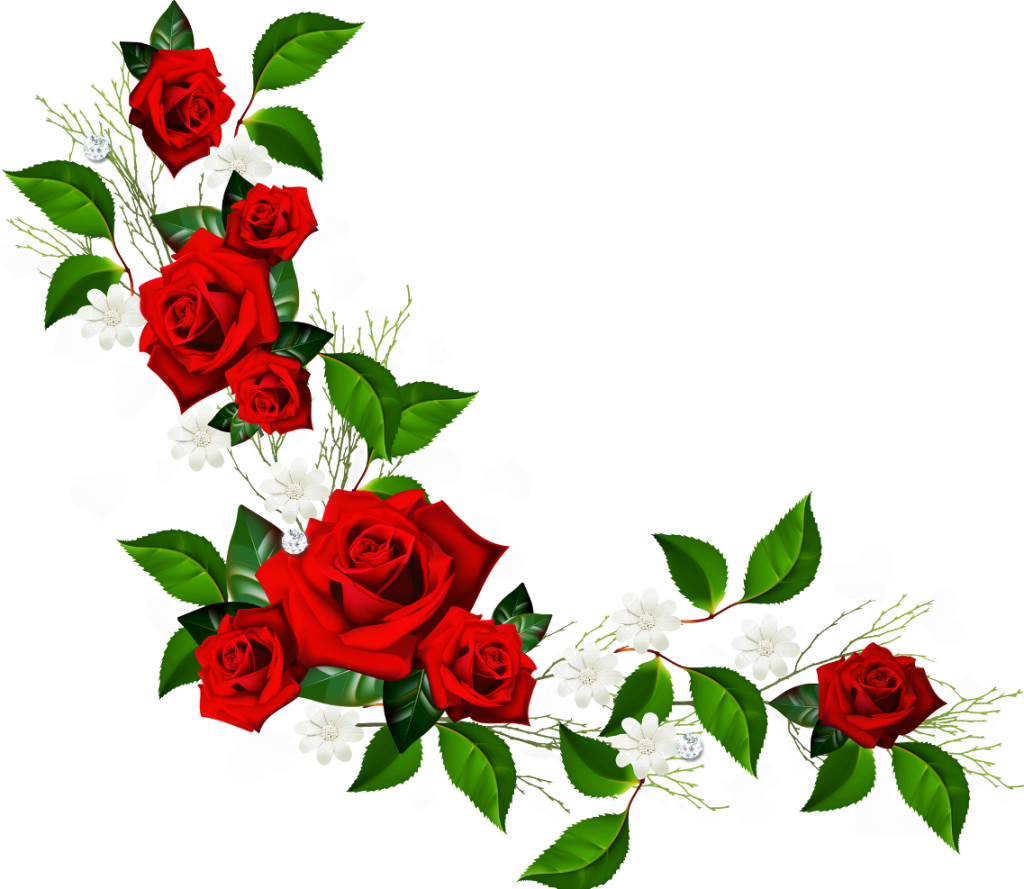 Floral clipart rose border  Free Flower Border Free