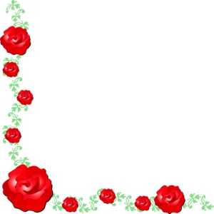 Red Rose clipart rose border #5