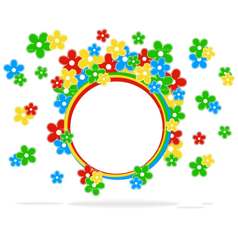 Floral clipart round flower frame ROUND pic Frame CLIPART Info